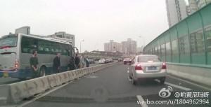 Six laowai take a leak in Shanghai