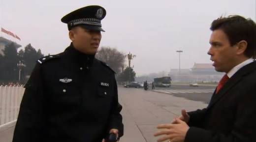 Sky News detained at Tiananmen 2