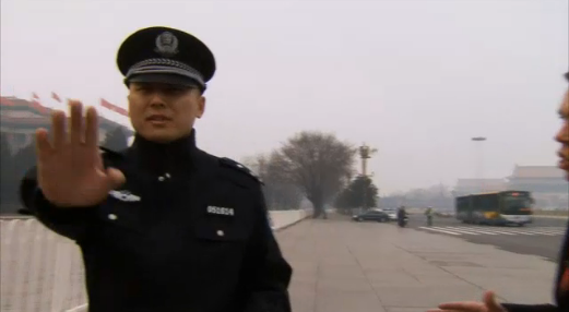 Sky News detained at Tiananmen 3