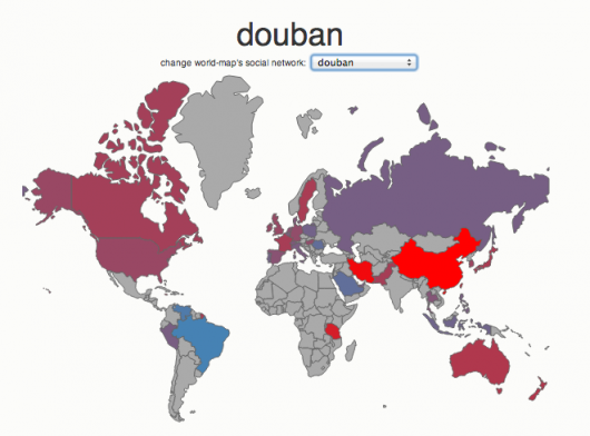 Social media country breakdown - Douban