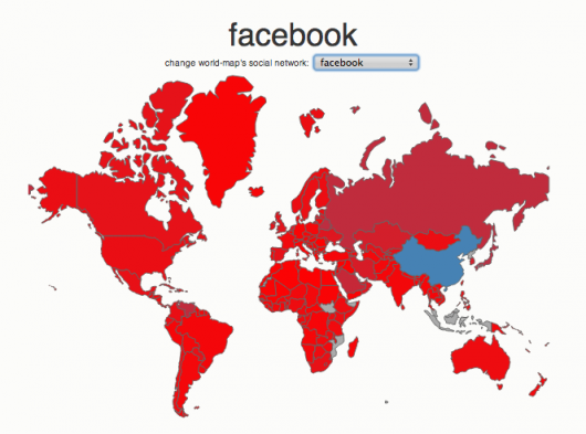 Social media country breakdown - Facebook