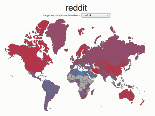 Social media country breakdown - Reddit