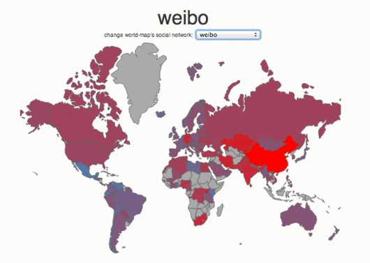 Social media country breakdown - Weibo