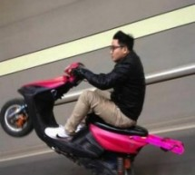 Young Daredevil Pops Wheelies On Speeding Pink Scooter, Impresses And Frightens Everyone