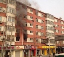 Man Falls From 5th Floor Of Burning Building In Beijing As Onlookers Watch In Horror (Video)