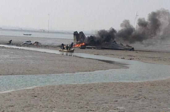 Chinese fighter jet crashes in Shandong 1