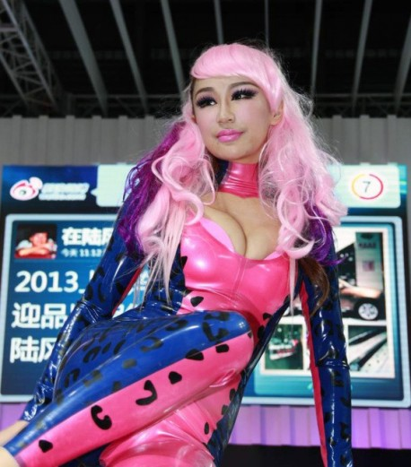 Du Yifei as catwoman at Shanghai Auto Show