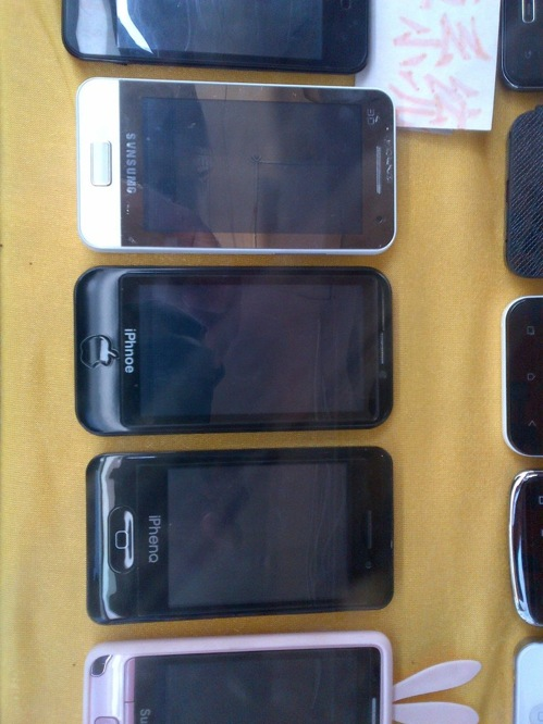 Fake iPhones via Max Fisher tweet