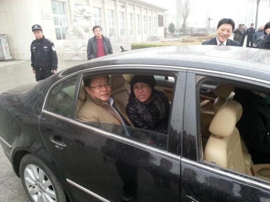 Liu Xia outside courthouse in Beijing