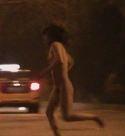 Naked man in Beijing with sex doll runs 3