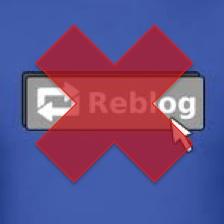 No reblogging