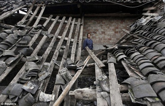 Survivor of Yaan earthquake