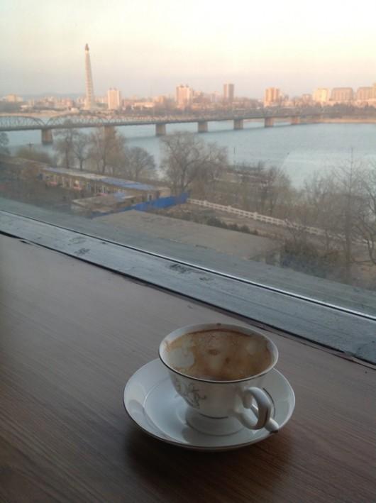 Third-wave coffeeshop in Pyongyang, North Korea