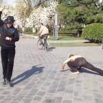 Weird Gangnam Style in Beijing park