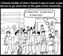 Laowai Comics: Out Of A Crowd
