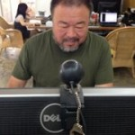 Ai Weiwei checking Twitter reactions