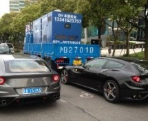 We're Okay With This: A Ferrari Crashes Into A Truck In A Bike Lane