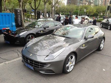 Ferrari crashes into truck in bike lane