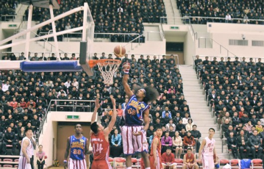 Globetrotters in North Korea