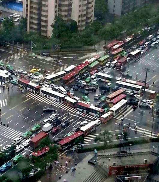 Mahjong gridlock in Xi'an