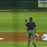 Manny Ramirez slides a little early