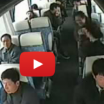 Seat Belt PSA: Watch What Happens To Passengers Inside A Bus That Flips Over