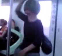 Guy On Beijing Subway Does Gangnam Style While Wearing A Watermelon
