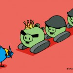 58 LEAD Angry Bird Tank Man via Hexie Farm