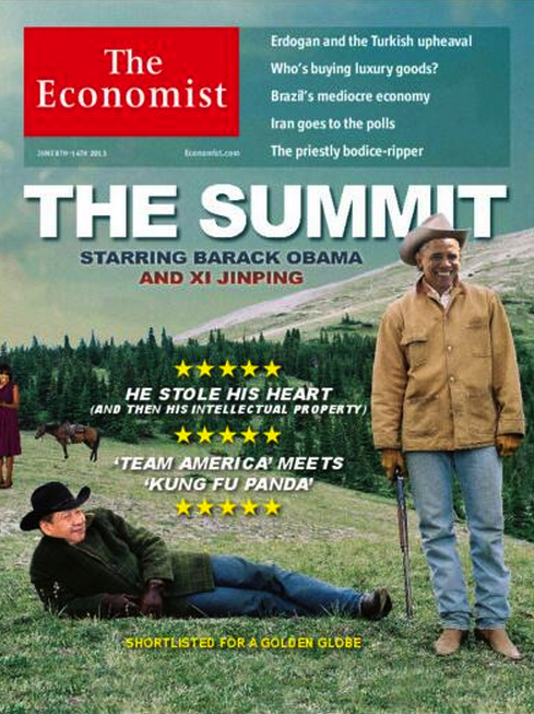 Economist cover with China