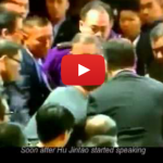 Watch: Hu Jintao Heckler Forcibly Removed From Premises