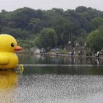 Wuhan Has Its Own Giant Rubber Duck, But Smaller