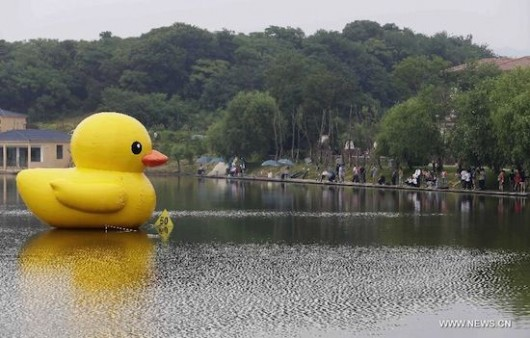 Rubber duck in Wuhan