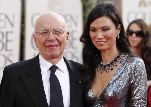 Rupert Murdoch and Wendi Deng Murdoch