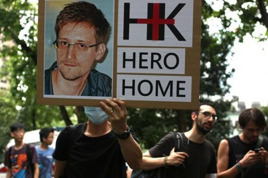 Snowden rally in Hong Kong 1