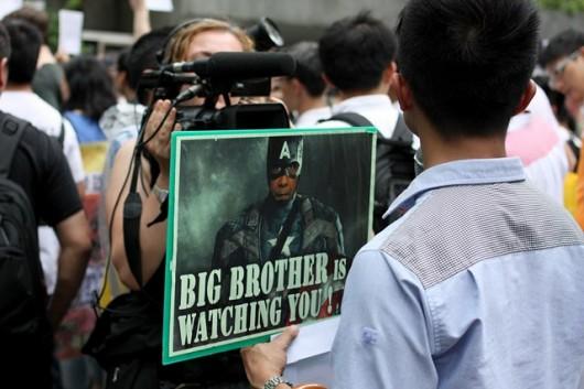 Snowden rally in Hong Kong 4