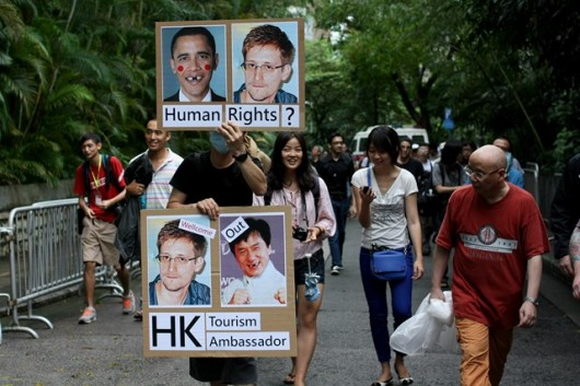 Snowden rally in Hong Kong 5