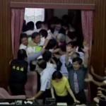 Taiwan parliament brawl 1