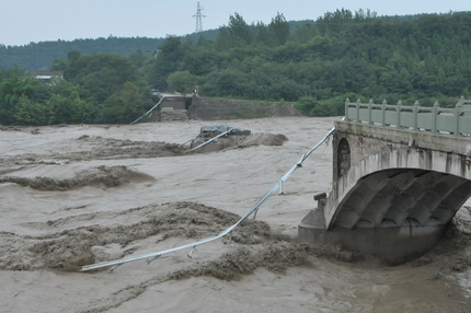 Bridge collapse in Sichuan