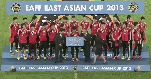 China 2nd place in East Asian Cup