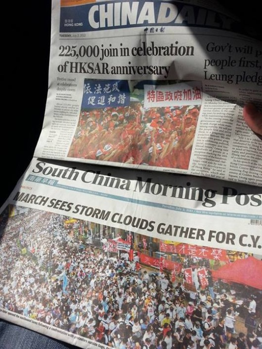 China Daily vs SCMP