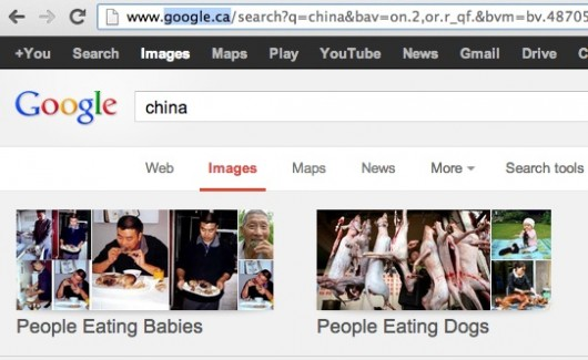 Google Canada image search for China
