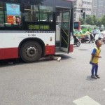Grandmother trapped under bus in Xi'an