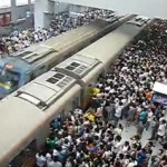 Line 13 Beijing subway congestion