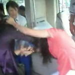 Two women fight on Beijing bus