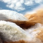 Yellow River silt storm