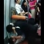 Beijing subway fight