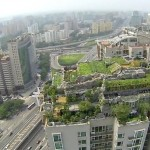 Bird's-eye view of high-rise villa
