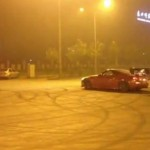 Car does donuts in Beijing