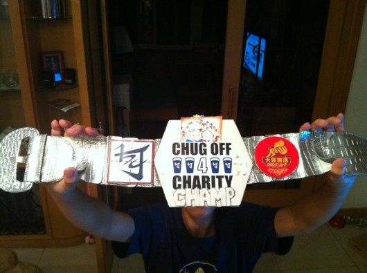 Chug-off for Charity Championship belt 2