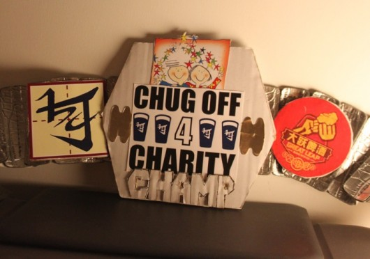 Chug-off for Charity Championship belt